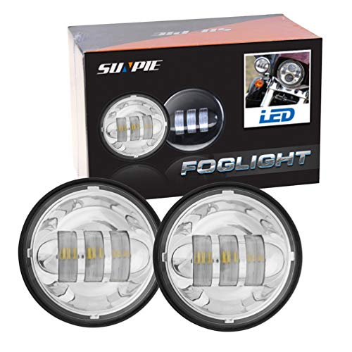 "Motorcycle 4-1/2"" 4.5inch LED Passing Light for Harley Davidson Fog Lamps Auxiliary Light Bulb Projector Spot Driving Lamp Headlight"
