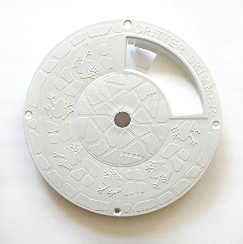 Critter Skimmer 10-Inch Round Pool Skimmer Cover, White