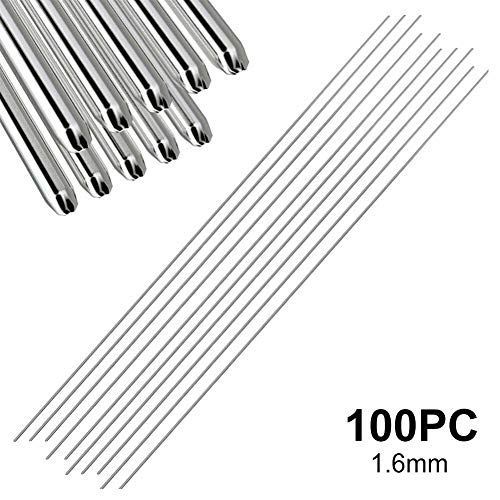 WC20 2,4 mm gris Electrodo de Tungsteno de cerio Aguja de Tungsteno de Aoldadura Arco de arg/ón Tig para Soldar Aluminio fino Acero Electrodo de Tungsteno de Varilla de 10 piezas