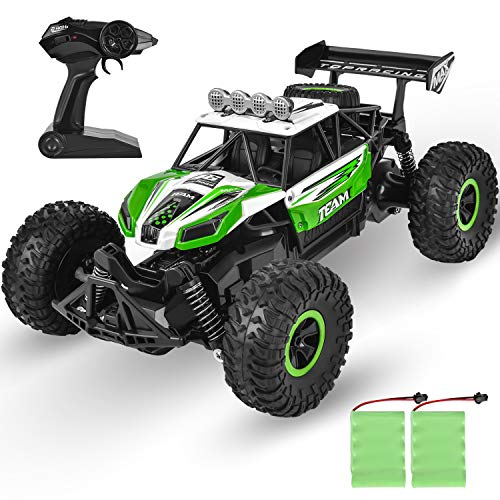 GotechoD Kids Remote Control Car High Speed RC Cars Off Road 1:16 RC Truck Monster Vehicle with 2 Rechargeable Batteries, 2020 Newest Fast Racing Car Toy for Age 4 16 Year Old Boys Girls Gifts