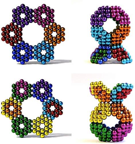 3T6B Caja Magnéticos para El Desarrollo Inteligente Y La Descompresión De Juguetes De Escultura (Color) 5 MM 1000 Bolas