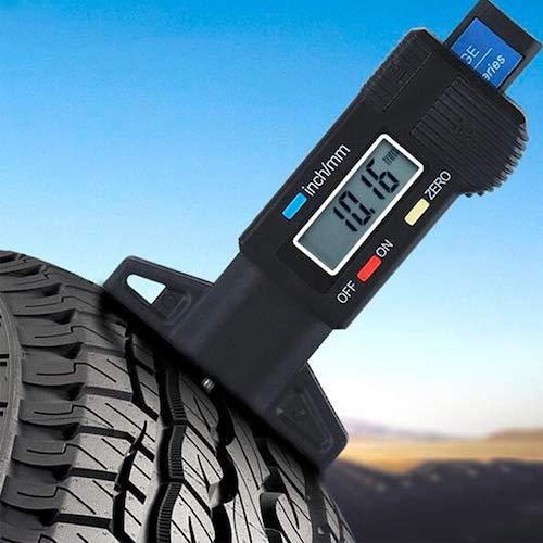 HaiMa 0-25.4Mm Digital Depth Gauge Caliper Tire Tread Depth Gauges Schermo Lcd Strumento Misura Per Automobile Auto - Nero