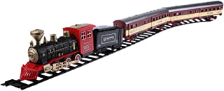 Baosity Classic Toy Electric Steam Train Set with Smoke (Non-Toxic) and Realistic Lights, Sounds
