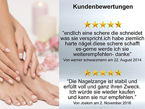 Profi Fußpflege Kopfschneider-Nagelzange mit Doppelter Übersetzung