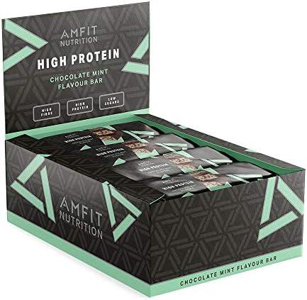Amazon Brand -Amfit Nutrition Low Sugar Protein Bar (19.8gr protein - 2.1gr sugar)- Jaffa Cake (Chocolate-Orange) - 12-pack (12 x 60g)