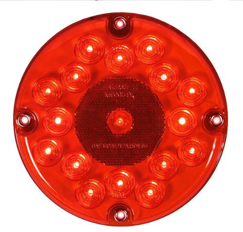 Maxxima M90061R 17 LED Red 7' Round Stop/Tail/Turn Bus Light
