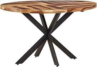 vidaXL Bois d'Acacia Massif Table de Salle à Manger Table à Dîner Table de Repas Meuble de Cuisine Table de Cuisine Maison...