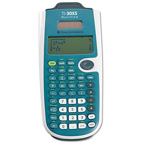 Texas Instruments TI-30XS MultiView Wetenschappelijke rekenmachine, 16 cijfers, 4 regels, accu/zonne-energie, blauw/wit