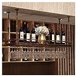 Estante para vinos, bar, restaurante, estante para copas de vino, colgador de metal para colgar en el hogar, soporte para botellas de vino americano, soporte para vasos, marco para copas, vino al re