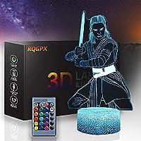 XKUN カカシハン3Dledイリュージョンランプリモコン付きナイトライトイリュージョンランプ16色を変えるクリスマスハロウィーンの誕生日プレゼント子供用ベビーガール,-ナルト-