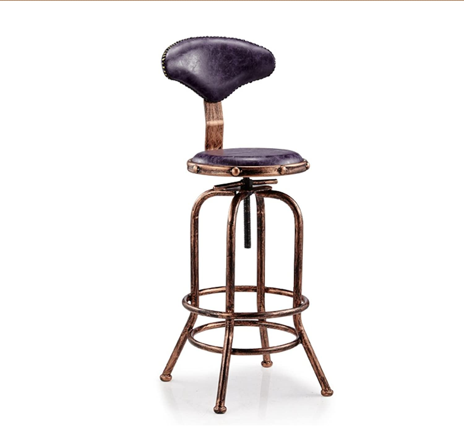 Vintage Bar Stools, Creativity Armchair Industrial Wind Bar Chair Front Desk Chair Cash Register Stool Coffee Chair Lift Stool redating Decoration High Stool (color   A)