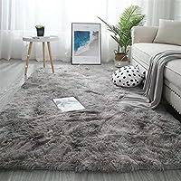 リビングルームカーペット、ソフトベッドルームカーペット、エリアカーペット、滑り止め、毛皮のような子供用ルームカーペット、バリエーションタイ染料カーペット(パープルピンク、100X120CM) (色 : Water gray, サイズ : 200X300CM)