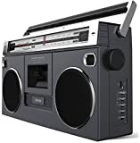 Ion Street Rocker Portable Retro Style Stereo Boombox with Wireless Streaming Bluetooth