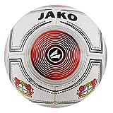 Jako Bayer 04 Leverkusen - Balón de fútbol (tamaño 1), Color Blanco y Rojo