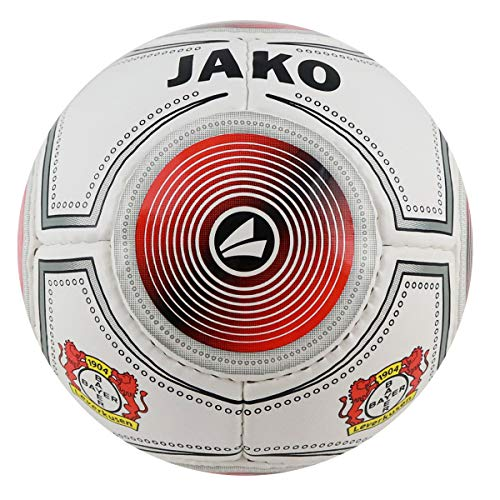 JAKO (Miniball Bayer 04 Leverkusen Ball, weiß/Rot, Größe 1