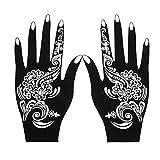 Etiquetas engomadas del tatuaje 4pcs / set Professional Henna Stencil Temporal Tatuaje Tatuaje Corporal Art Pegatina Plantilla Herramienta de boda India Flor Tatuaje Stencil Para niños niñas manga com