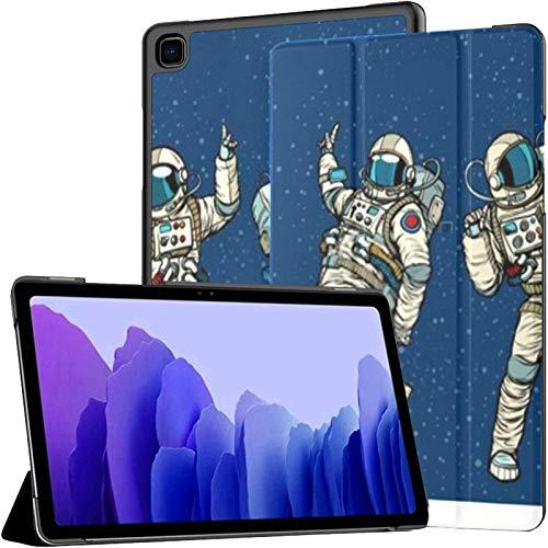 Funda para Samsung Galaxy Tab A7 Tableta de 10,4 Pulgadas 2020 (sm-t500 / t505 / t507), Fiesta de Discoteca Astronautas Bailando Hombres Mujeres Funda con Soporte de múltiples ángulos con Auto Wake /