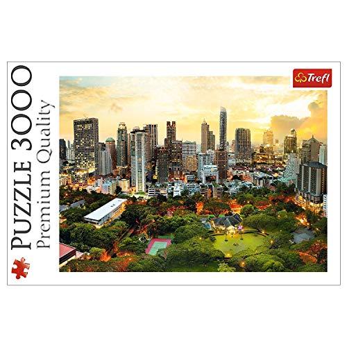 Trefl, Puzzle, Sonnenuntergang in Bangkok, 3000 Teile, Premium Quality, für Erwachsene und Kinder ab 15 Jahren
