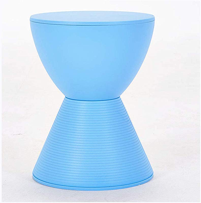 SMC Stool Modern Minimalist Fashion Creative Nordic Living Room Sofa Change Shoes Stool Stool Household Plastic Small Stool Color Blue