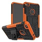 Ququcheng Coque Huawei Honor 8 Lite/P8 Lite 2017/P9 Lite 2017 Coque+Protecteur d'écran en Verre trempé 360 Degres Protection Cover pour Huawei Honor 8 Lite/P8 Lite 2017/P9 Lite 2017-Orange