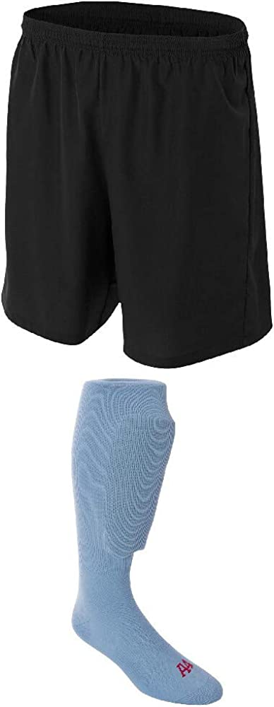 A4 Sportswear Black Luxury goods Adult Sale Special Price Medium Shorts Blue Light Soccer Socks