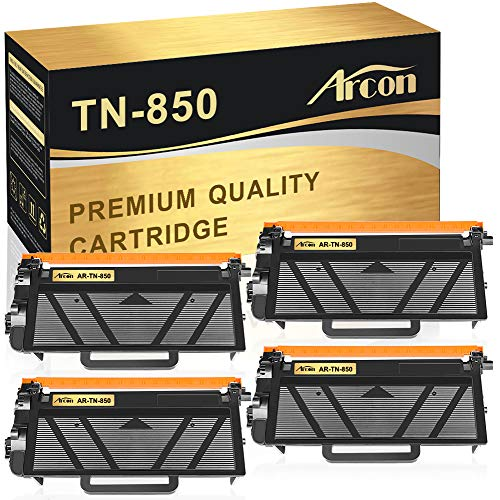Arcon Compatible Toner Cartridge Replacement for TN850 TN-850 TN 850 HL-L6200DW Brother HL-L6200DW MFC-L5900DW MFC-l5700dw MFC-l6800dw HLL6200DW HL-L6200DWT HL-L5200DW MFC-L5850DW Toner High Yield-4PK