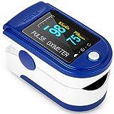 Oxymètre de Doigt Professionnel,Oxymètre de Pouls Numérique Portable avec Affichage à LED pour Adultes et Enfants avec Lanière