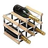 RTA 9 Bottle Traditional Wine Rack-Fully Assembled-Natural Pine (FSC)