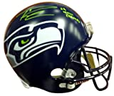 Authentic Autographed Russell Wilson Seattle Seahawks Riddell Football Helmet SB XLVIII Champs In Green RW ~ NFL Football Helmets