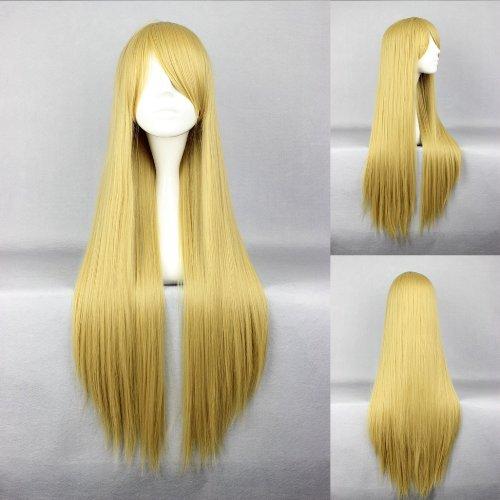 Ladieshair Cosplay Perücke blond 80cm glatt Naruto Tsunade