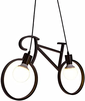 Industrial Bicicleta Vintage Retro negro de luz colgantes de ...