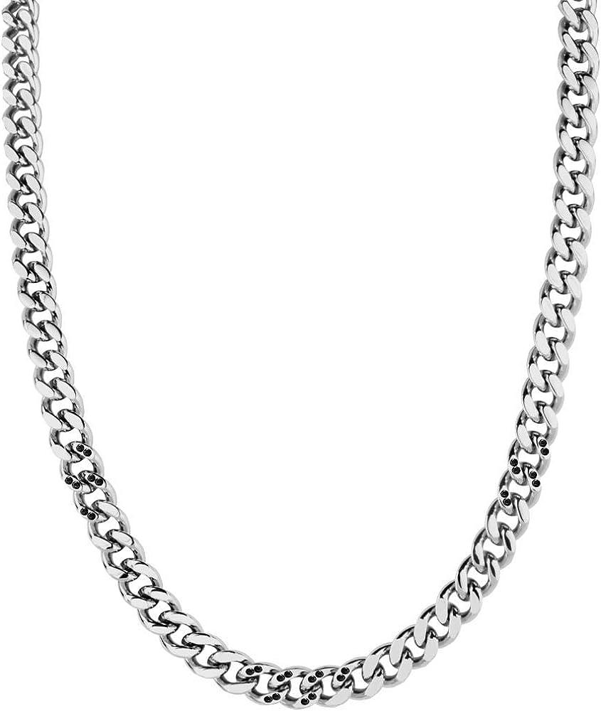 Morellato,collana da uomo,in acciaio e cristalli SAHC08