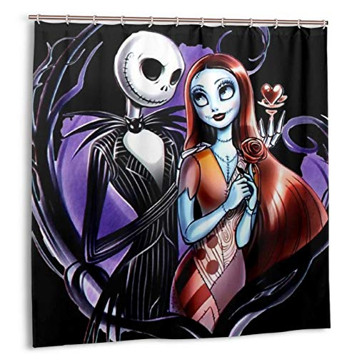 The Nightmare Before Christmas Shower Curtain for Bathroom Decoration 72 X 72 Inch B