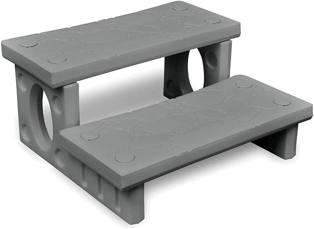 vidaXL Mini-Escalera Gris para el SPA