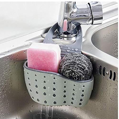 AMOYER Sink Caddy Schwammhalter Seifenhalter, Grün Kunststoff Sattel-Hahn-Caddy Schreibtisch-Organisator Stifthalter