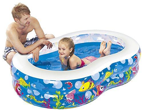 Jilong Figure 8 Ocean Pool 175x109x46 cm Kinderpool Planschbecken Schwimmbecken Kinder Schwimmbad für Garten und Terasse