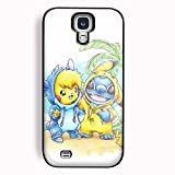 Cute Pikachu and Stitch for iPhone Case and Samsung Galaxy case (Samsung Galaxy S4 Black)