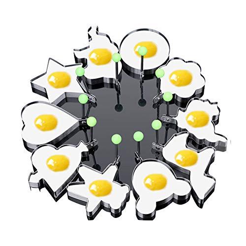 Spiegelei Pancake Shaper Edelstahl Shaper-Form-Form Küche Zubehör Gadget (10 Formen)