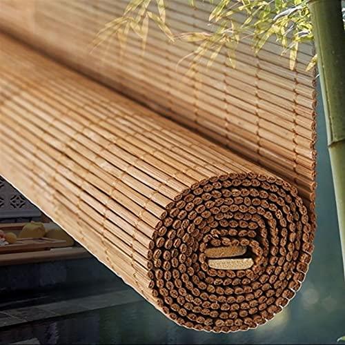 ERLAN Tende a Rullo Tende a Rullo in bambù Impermeabili con Mantovana, Tende a Rullo per Tende da Sole oer Interni ed Esterni Cucina Gazebo Ufficio Finestra Porta (Size : 140×180cm)