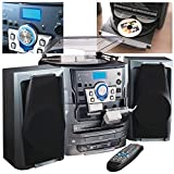 NEOSTAR Compact Music Centre System Turntable CD Twin Cassette Tape Deck Radio USB