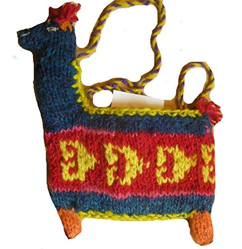 TERRAPIN Fair-Trade-Woll-Lama-geformte Schultertasche/Geldbeutel [Kleid]