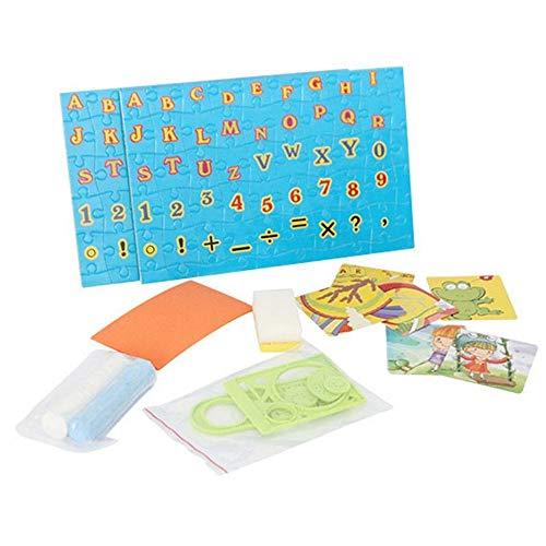 BAKAJI Lavagna Magnetica Per Bambini 2in1 Doppia Area di Disegno Con Tavolo Piano Da Lavoro e Scomparti In Plastica Resistente Completo Di Accessori Dimensioni 40 x 47 x 47 cm Colore Multicolor