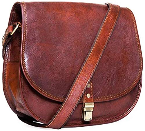 ALASKA EXPORTS - Leather Shoulder Saddle Bag Purse for Women Cross Body Bags to Young Women & Teen Girl Friend.
