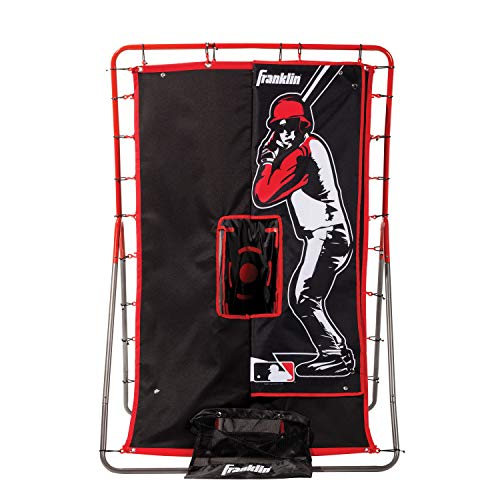 Franklin Sports Pitch Back Rebounder and Switch Hitter Pitching Target - 2 in 1 Return Trainer and Catcher Target - Perfect for Pitching, Fielding and Throwing Practice - 55 x 36 Inch
