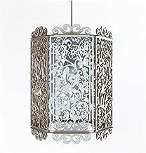 Lampadario Lampada soffitto Paralume Pendent Design Floreale Shabby Chic Country