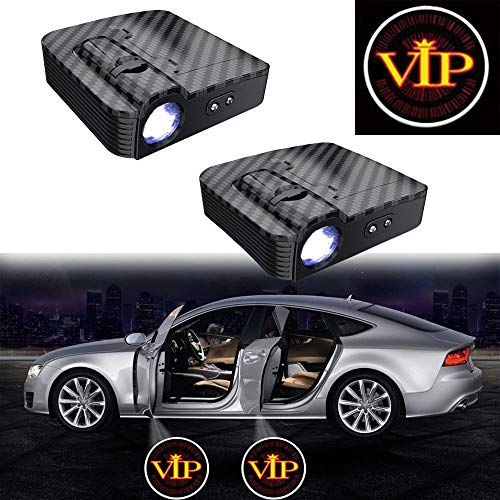 MIVISO 2 Stücke Autotür Led Licht Logo Projektor Türbeleuchtung Willkommen Einstiegsbeleuchtung Tür Vorfeldbeleuchtung projektoren (Verbessert Kein Magnet)