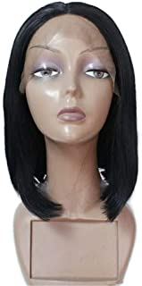Remeehi Short Straight Bob Full Head Wigs None Lace Full Head Wig For Women Natural Color 8inch