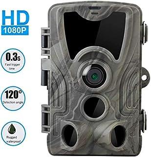 Toyfun 16MP 1080P HD Senda Wildlife Cámara Caza Juego Cámara con Infrarrojos Visión Nocturna Senda Vigilancia IP66 Impermeable