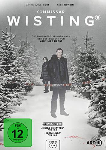 Kommissar Wisting - Alle 4 Spielfilme: Eisige Schatten Teil 1 & 2, Jagdhunde Teil 1 & 2 [Alemania] [DVD]