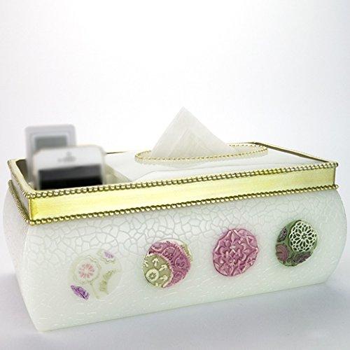 GWF Boîte à mouchoirs de Style européen Boîte de Rangement à télécommande Multifonction Bac de résine pour Salon créatif (Couleur : A)